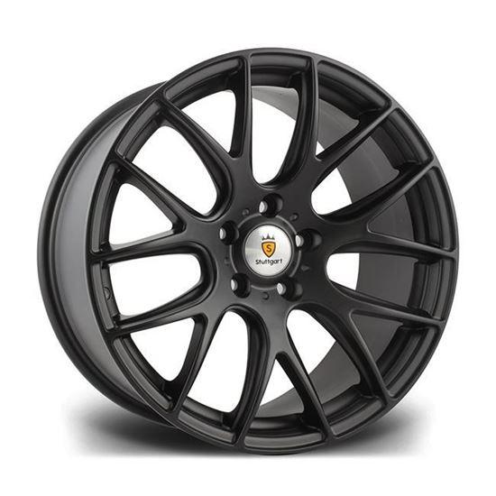 """18"""" Stuttgart ST3 Matt Black Alloy Wheels"""