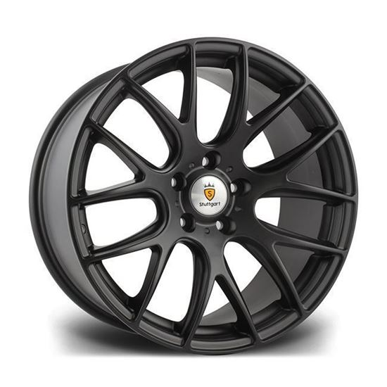 """19"""" Stuttgart ST3 Matt Black Alloy Wheels"""