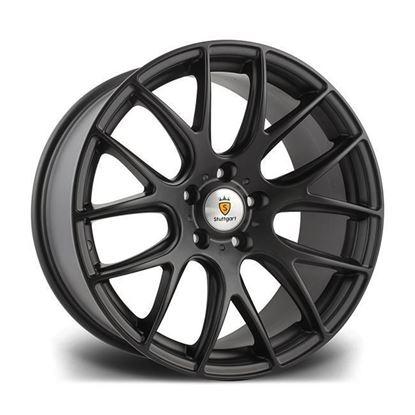 """20"""" Stuttgart ST3 Matt Black Alloy Wheels"""