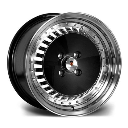 "15"" Stuttgart ST4 Black Polished Face Alloy Wheels"