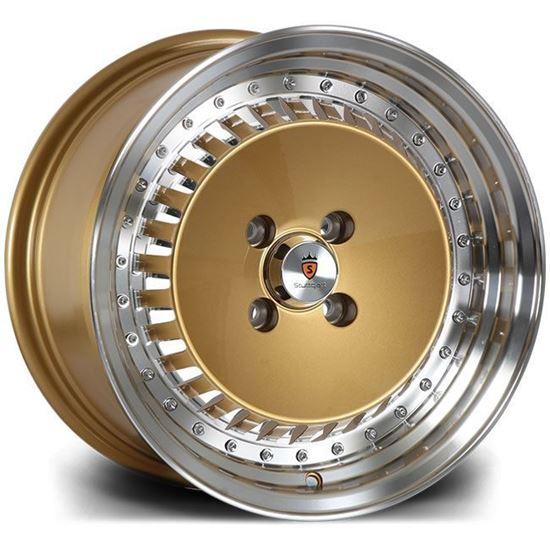"15"" Stuttgart ST4 Gold Polished Alloy Wheels"