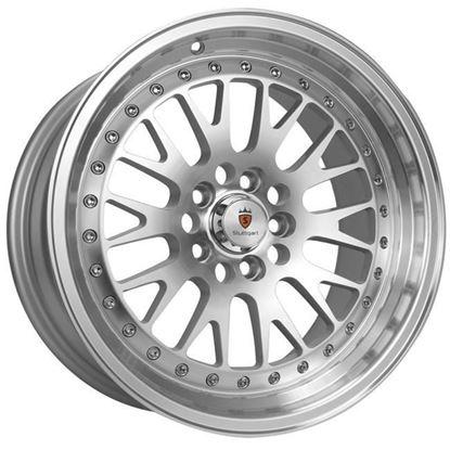 "18"" Stuttgart ST5 Silver Polished Lip Alloy Wheels"
