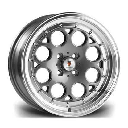 "15"" Stuttgart ST6 Gun Metal Polished Alloy Wheels"