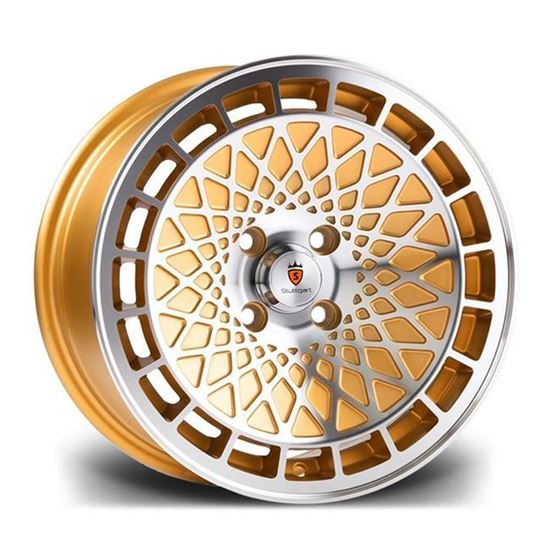 "15"" Stuttgart ST7 Gold Polished Alloy Wheels"