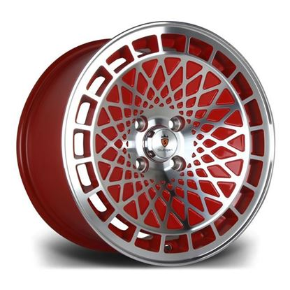 "15"" Stuttgart ST7 Red Polished Alloy Wheels"
