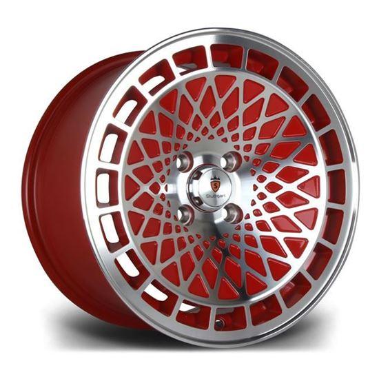 "15"" Stuttgart ST7 Red Polished Alloy Wheels"