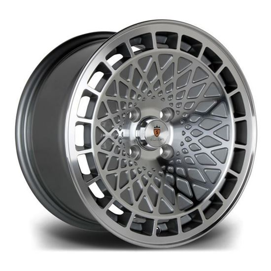 "15"" Stuttgart ST7 Gun Metal Polished Face Alloy Wheels"