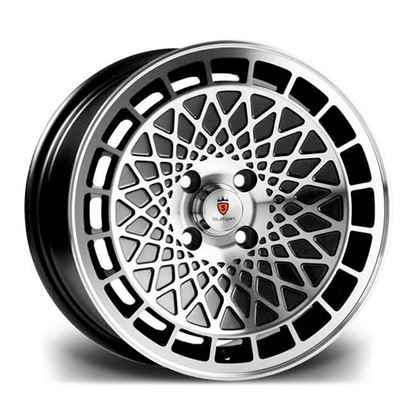 "16"" Stuttgart ST7 Black Machined Alloy Wheels"