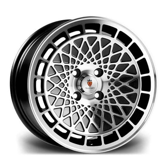 "16"" Stuttgart ST7 Black Machined Alloy Wheels"