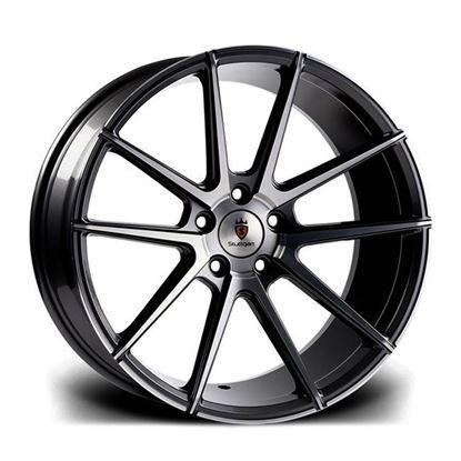 "19"" Stuttgart ST9 Black Polished Alloy Wheels"