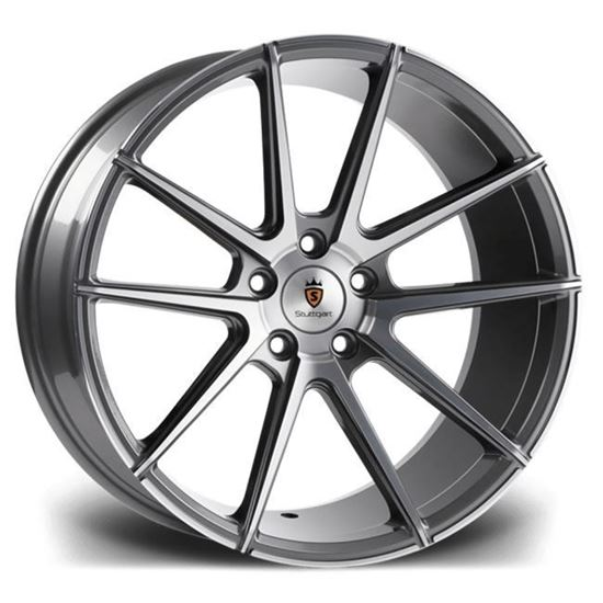 "19"" Stuttgart ST9 Gun Metal Polished Alloy Wheels"