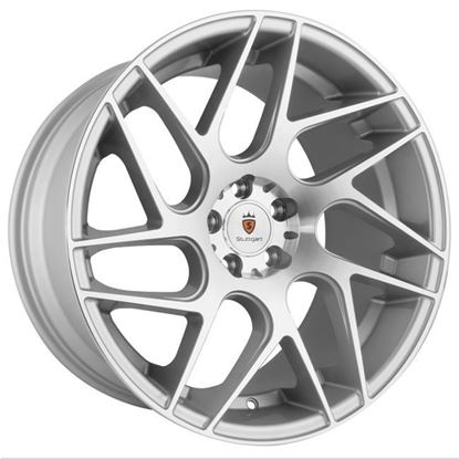 "18"" Stuttgart ST12 Silver Polished Alloy Wheels"