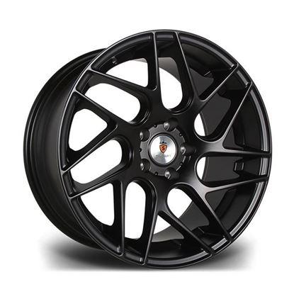 """18"""" Stuttgart ST12 Matt Black Alloy Wheels"""