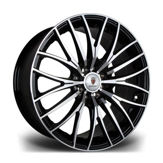 "15"" Stuttgart ST17 Black Polished Alloy Wheels"