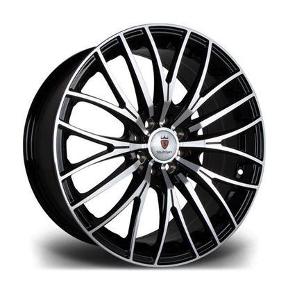 "17"" Stuttgart ST17 Black Polished Alloy Wheels"