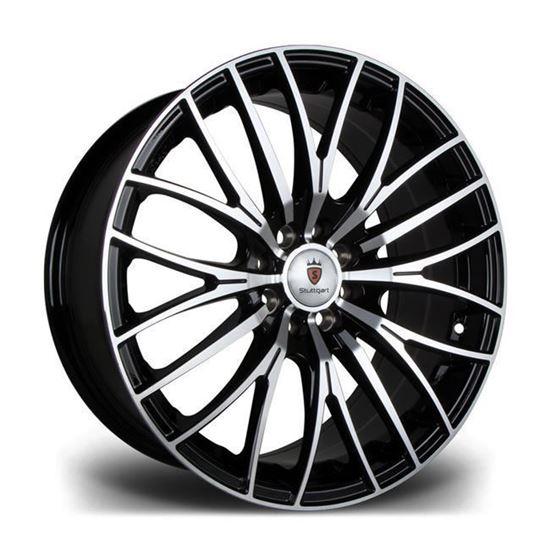 "17"" Stuttgart ST17 Black Polished Alloy Wheels"