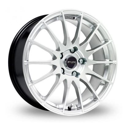 "18"" Fox FX004 Gloss Silver Alloy Wheels"
