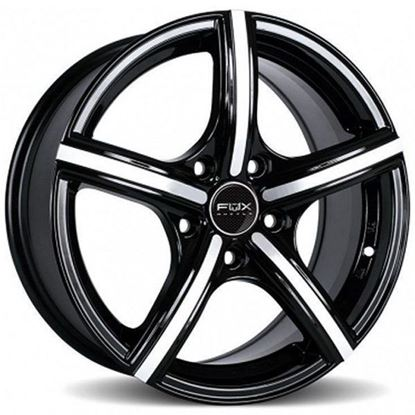 """14"""" Fox FX006 Black Polished Alloy Wheels"""