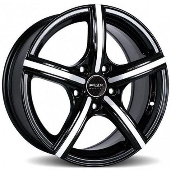 """15"""" Fox FX006 Black Polished Alloy Wheels"""