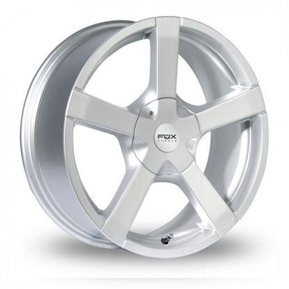 "14"" Fox FX1 Silver Alloy Wheels"