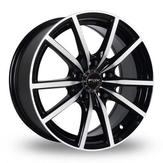 """15"""" Fox FX10 Black Polished Alloy Wheels"""