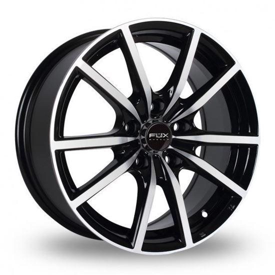 """17"""" Fox FX10 Black Polished Alloy Wheels"""