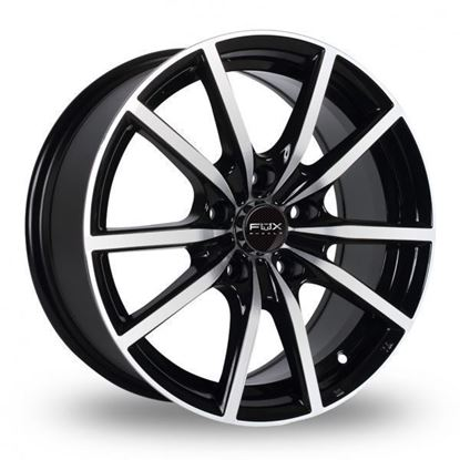"18"" Fox FX10 Black Polished Alloy Wheels"