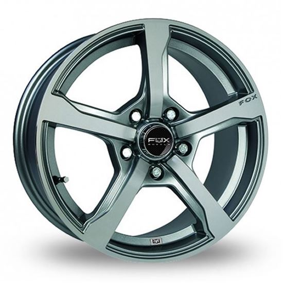 "15"" Fox FX6 Gloss Grey Alloy Wheels"