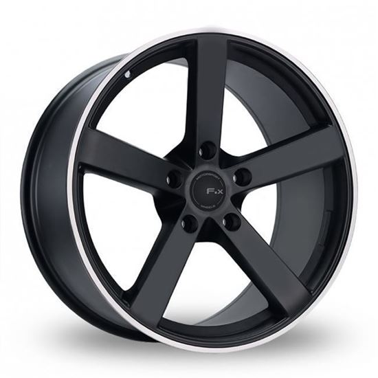 "19"" Fox MS003 Matt Black Alloy Wheels"