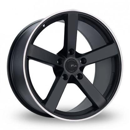 "20"" Fox MS003 Matt Black Alloy Wheels"