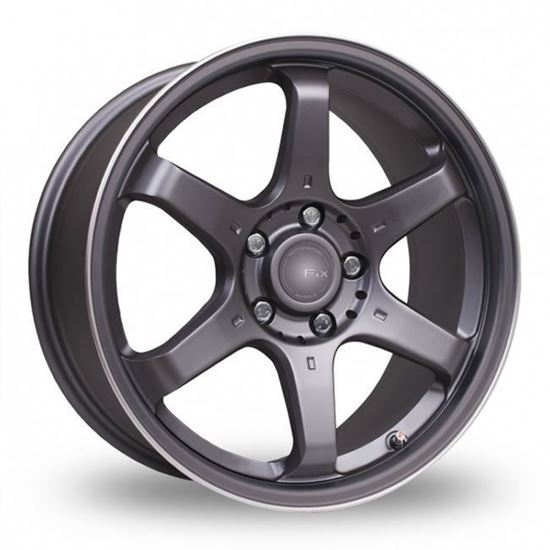"15"" Fox MS006 Carbon Grey Alloy Wheels"