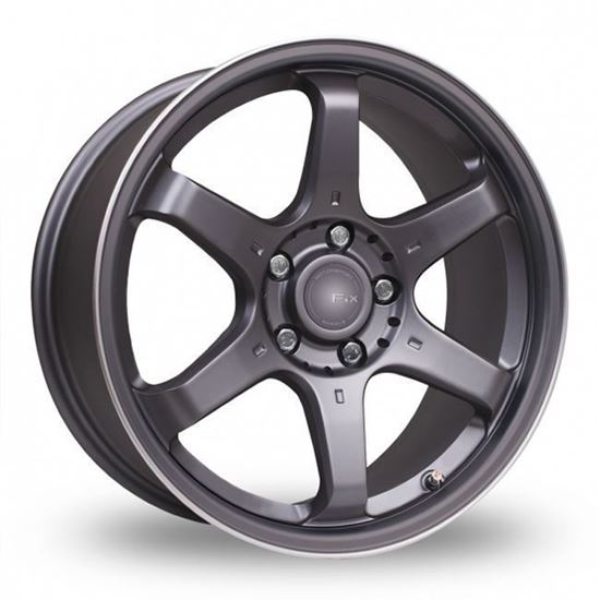 "16"" Fox MS006 Carbon Grey Alloy Wheels"