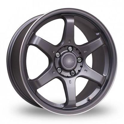 "18"" Fox MS006 Carbon Grey Alloy Wheels"