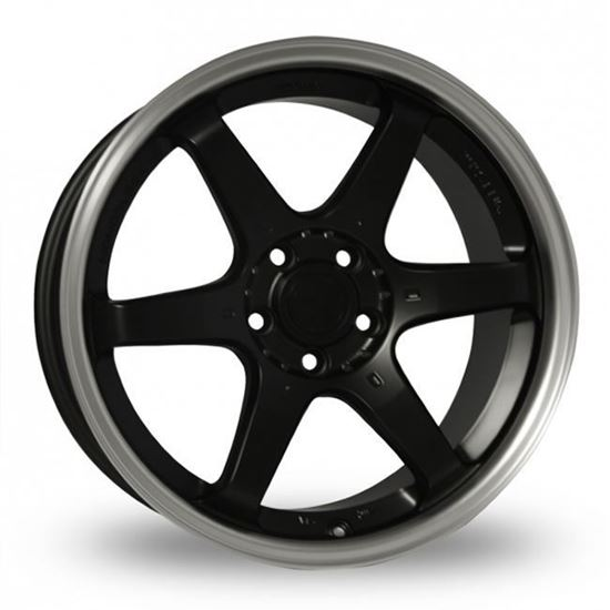 "15"" Fox MS006 Matt Black Alloy Wheels"