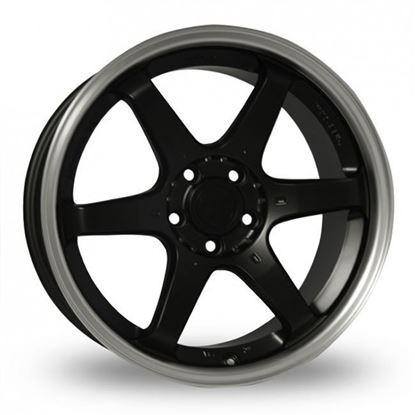 "16"" Fox MS006 Matt Black Alloy Wheels"