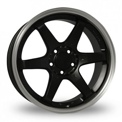 "17"" Fox MS006 Matt Black Alloy Wheels"