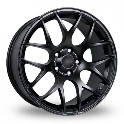 "17"" Fox MS007 Matt Black Alloy Wheels"