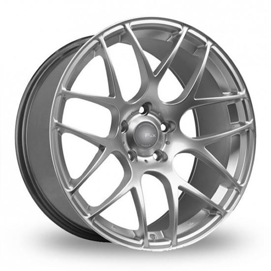 "18"" Fox MS007 Hyper Silver Alloy Wheels"