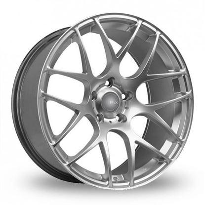 """20"""" Fox MS007 Hyper Silver Alloy Wheels"""