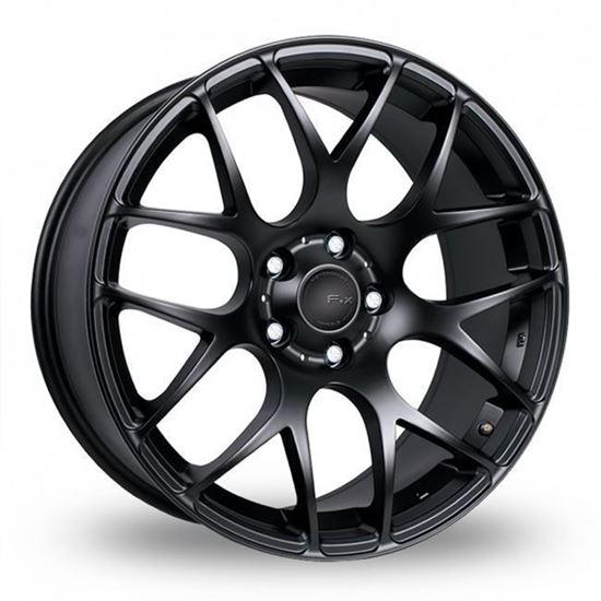 "20"" Fox MS007 Matt Black Alloy Wheels"