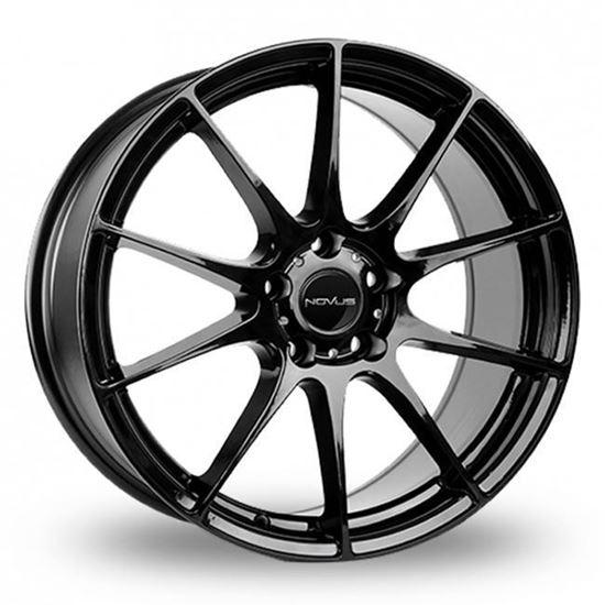 """18"""" Novus NVS01 Gloss Black Alloy Wheels"""