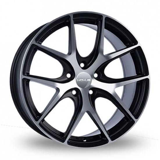 "17"" Novus NVS02 Black Polished Alloy Wheels"