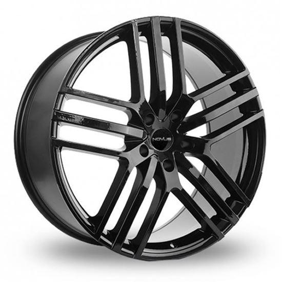"""22"""" Novus NVS03 Gloss Black Alloy Wheels"""