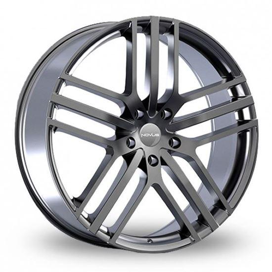 """22"""" Novus NVS03 Grey Alloy Wheels"""