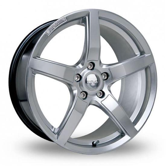 """15"""" Riva DBZ Hyper Silver Alloy Wheels"""