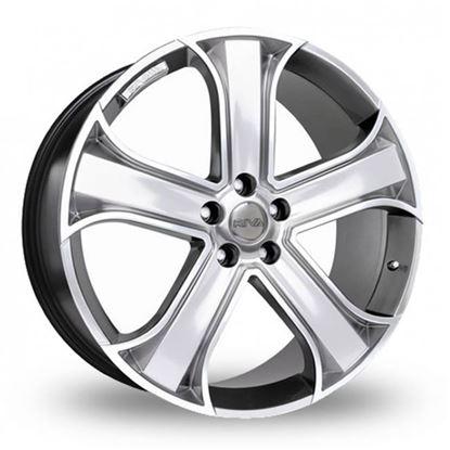 """22"""" Riva RVR Hyper Silver Alloy Wheels"""