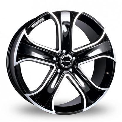 "22"" Riva RVR Black Polished Alloy Wheels"