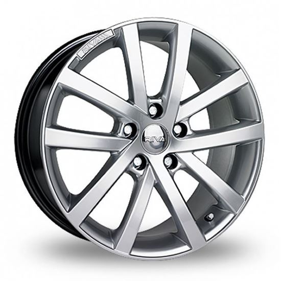 "18"" Riva AVS Hyper Silver Alloy Wheels"
