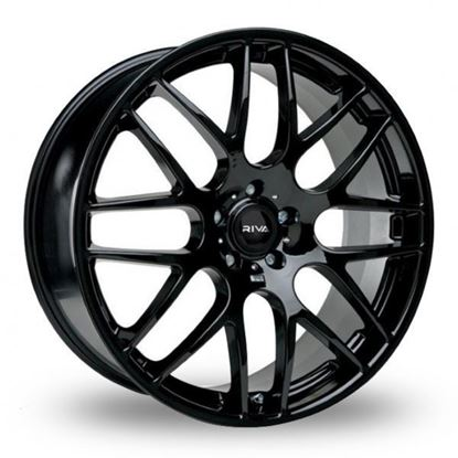 "20"" Riva DTM Gloss Black Alloy Wheels"