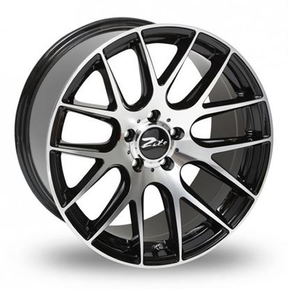 "18"" Zito 935 Gloss Black Polished Face Alloy Wheels"